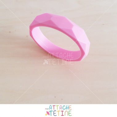 Bracelet dentition silicone rose
