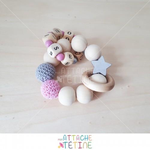 hochet bois etoile crochet