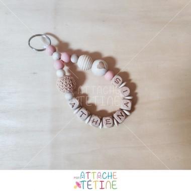 Porte - clés rond peach