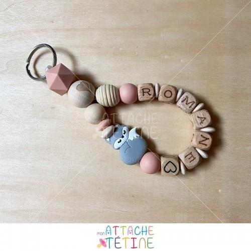 Porte - clés renard gris