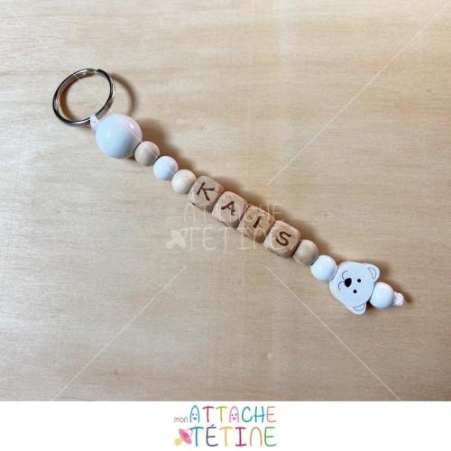 Porte-clés ourson blanc