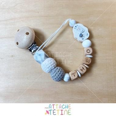 Attache tétine lama crochet